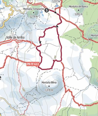 Karte / 25. Dezember 2017 Weihnachtswanderung ab Hotel Rural