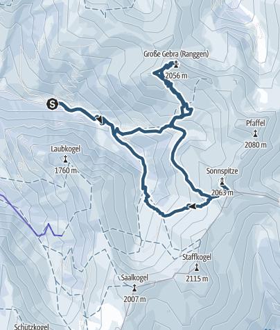 Karte / Gebra und Sonnspitze