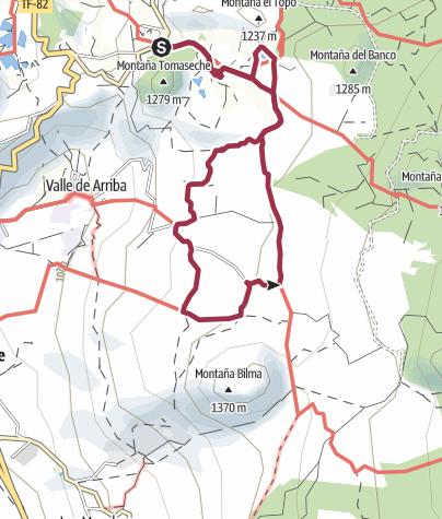 Karte / 27. Dezember 2017 Mittwochswanderung um das Hotel Rural
