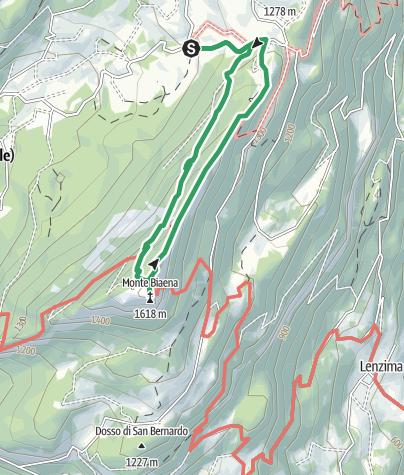 Cartina / La Baita Bordala (1196 m) - M. Biaena (1618 m)