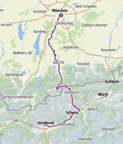 Map / munich to Innsbruck