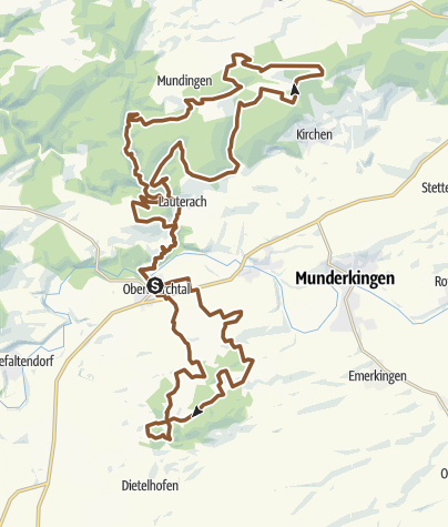 Karte / Marchtal Bike Marathon 2018 - Mittelstrecke
