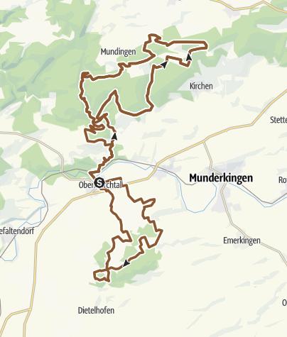 Karte / Marchtal Bike Marathon 2018 - Langstrecke