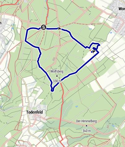 Karte / Rheinbacher Stadtwald: Von der Waldkapelle über die Tomburg zum Schwarzen Kreuz