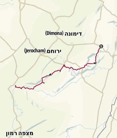 Karte / 4 days on the Shvil (Israel National Trail)