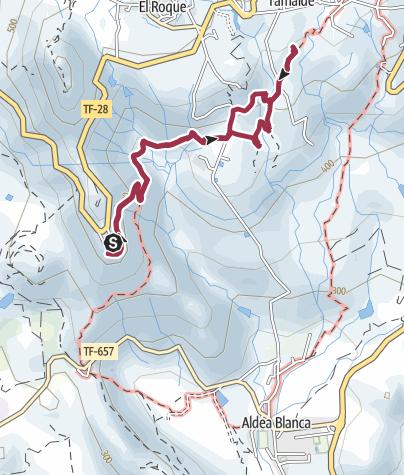 Karte / 3. Januar 2018 Mittwochswanderung ab Mirador La Centinela nach San Miguel