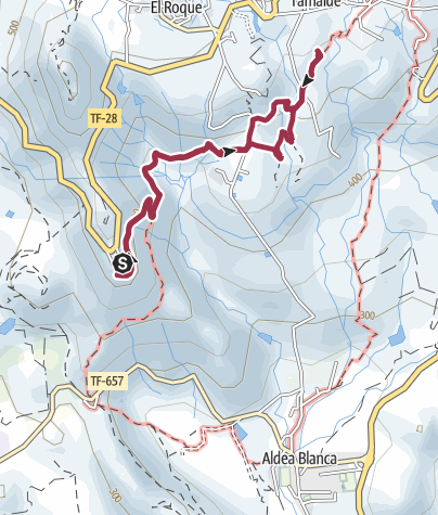 Map / 3. Januar 2018 Mittwochswanderung ab Mirador La Centinela nach San Miguel
