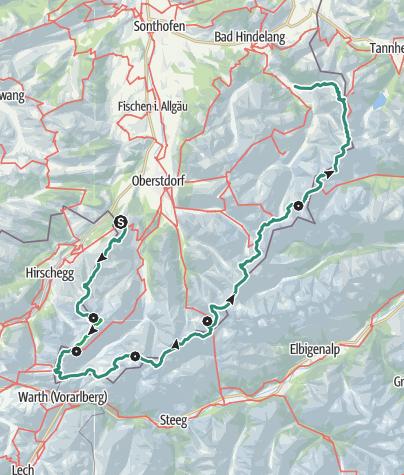 Map / Across the Allgaeu – athletic option