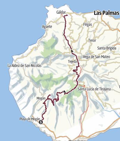 Map / 5 daagse bivaktocht in Gran Canaria