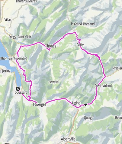 Karte / Col des Aravis