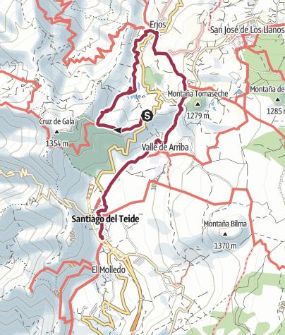 Karte / 10. Januar 2018 Mittwochswanderung Erjos