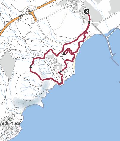 Karte / 15. Januar 2018 El Cielo Montagswanderung ab Hafen Granadilla