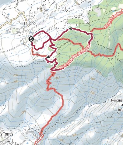 Karte / 17. Januar 2018 Mittwochswanderung ab Taucho/La Quinta