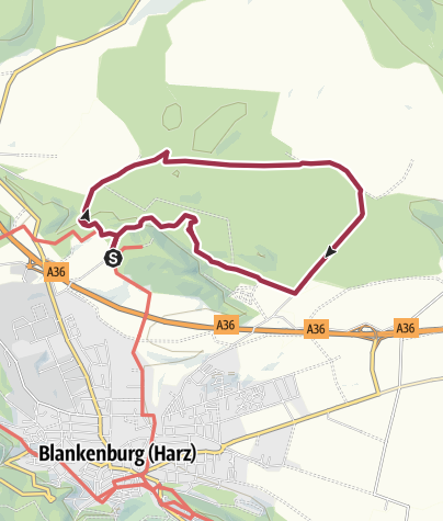Karte / Großer Rundweg Sandsteinhöhlen Blankenburg (Harz)