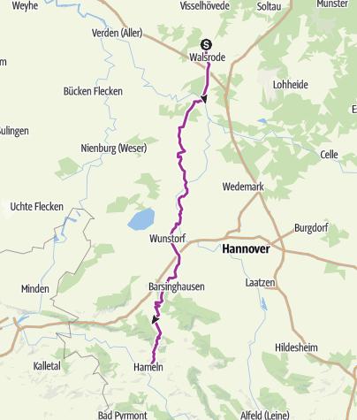 Carte / 2. Etappe Dreieich Run 2018