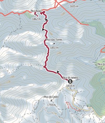 Map / Vereda do Areeiro - Pico Ruivo