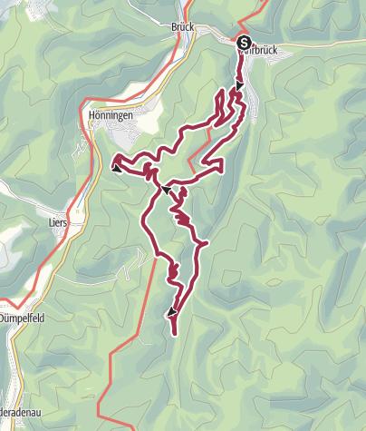 Mapa / Ahrbrück 17 km
