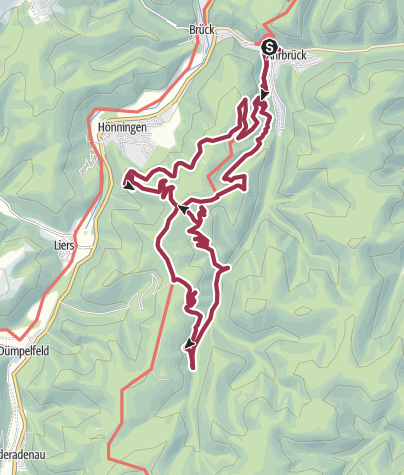 Karte / Ahrbrück 17 km