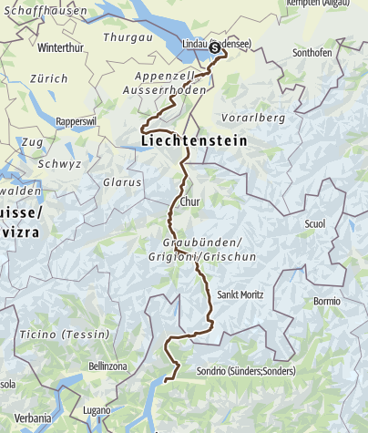 מפה / TransAlp Bodensee-ComerSee Ostpassage MITTEL