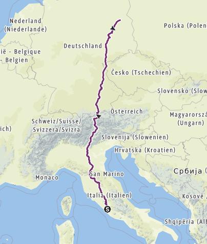 Map / Berlin-Rom