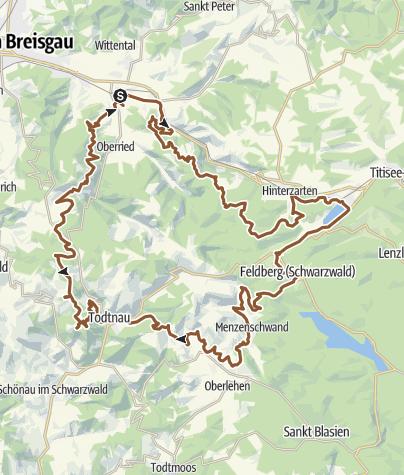 Karte / ULTRA | 117 km | Black Forest ULTRA Bike Marathon