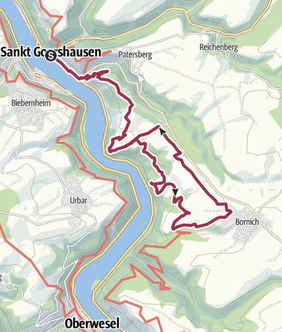Karte / Rheinsteig-Rundtour Loreley
