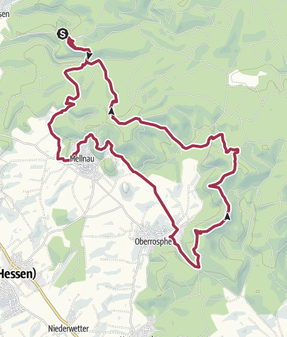 Karte / Vom Christenberg zur Stirnhelle durch den Burgwald