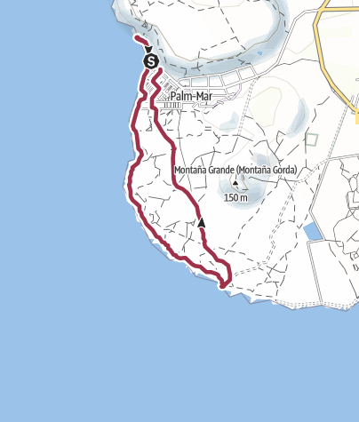 Map / 2. Februar 2018 Küstenwanderung Malpais de la Rasca