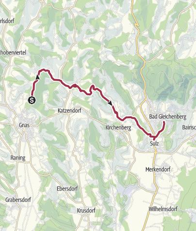 Karte / Gleichenberger Bahnwanderweg  von Gnas nach Bad Gleichenberg