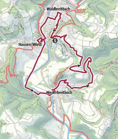 Karte / Pilgerweg - Spirituell Wandern im Wiedtal