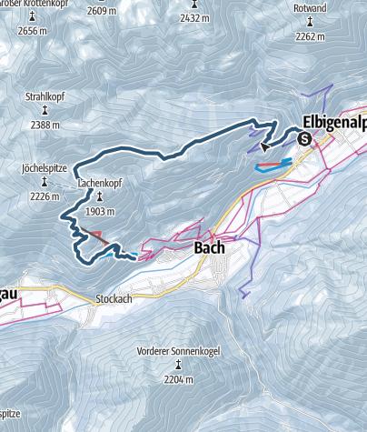 Karte / Bernard's Eck - Jöchelspitze