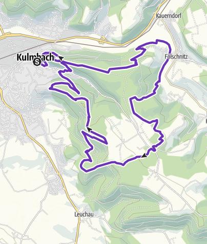Karte / Langstrecke TRAILS 4 GERMANY presented by BUFF 2019 Kulmbach im Frankenwald