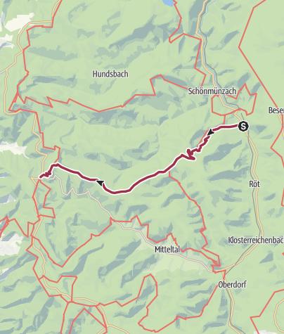 Carte / Vom Murgtal ins Rheintal - einmal quer durch den Nationalpark
