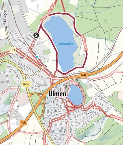 Karte / Ulmen: Winterzauber am Jungferweiher