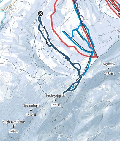 Karte / Grünten über Kammeregg