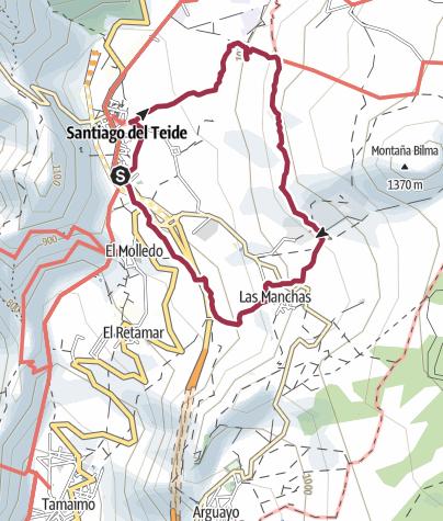 Karte / 14. Februar 2018 Rutas el Amendra ( Mandelblütenwanderung )