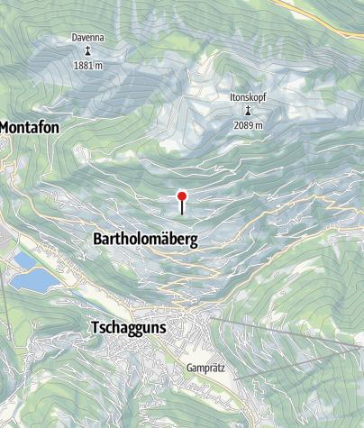 Karte / 11. Station: Mittelalterliche Bergbauzone Knappagruaba Historisches Bergwerk