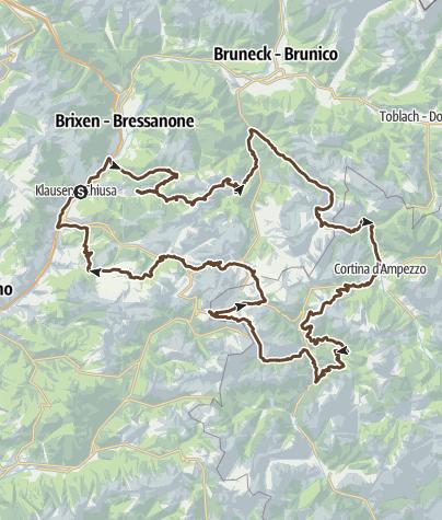 Karte / Trans Dolomiti 2018 KiBiZi
