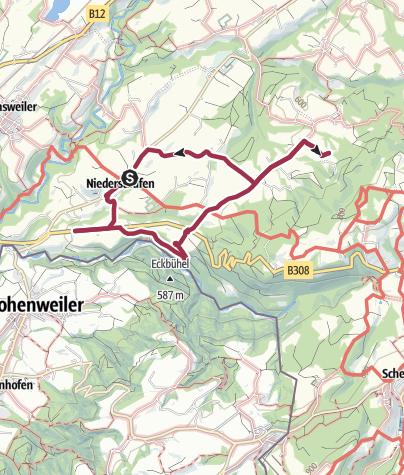 Karte / Niederstaufen - (ehem.) Gasthauswanderung
