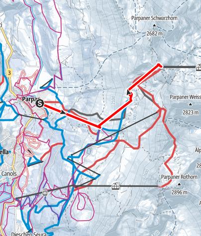 Map / Heidi & Gigi Weg in Lenzerheide
