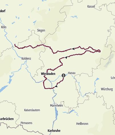 地图 / Frankfurt  - Saulheim - Petersberg - Ittenbach