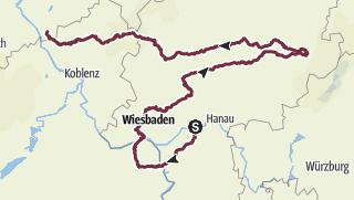 Karte / Frankfurt  - Saulheim - Petersberg - Ittenbach