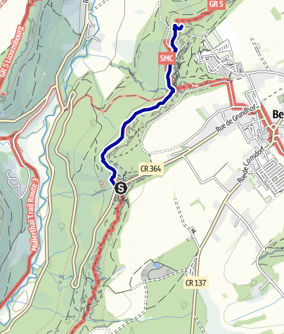 "Karte / Mullerthal Trail Route 2 ""Am Predigtstuhl"""