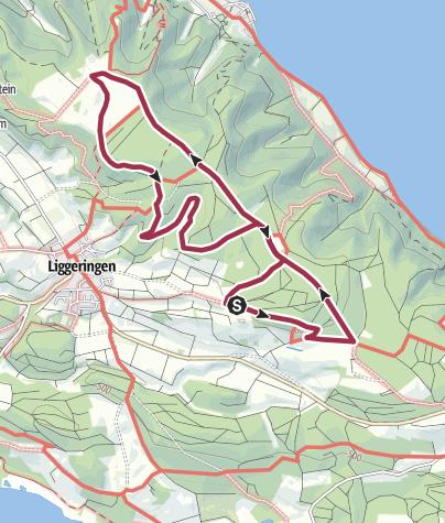 Karte / Liggeringen-Schöne Aussichtspunkte auf Untersee und Überlinger See