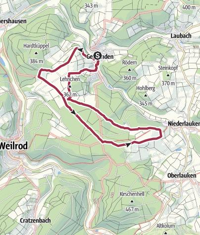 Map / Gemünden - Niederlauken