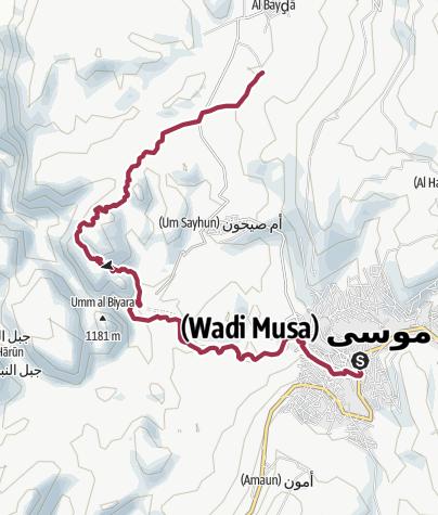 Karte / Petra - Von Wadi Musa bis Klein Petra (Seven Wonders Beduin Camp)