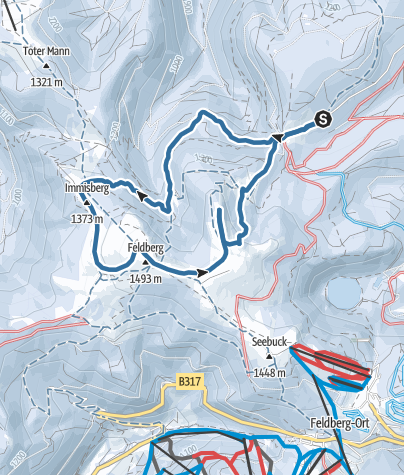 Karte / Vom Rinken zum Feldberg - Schneeschuh Rundtour