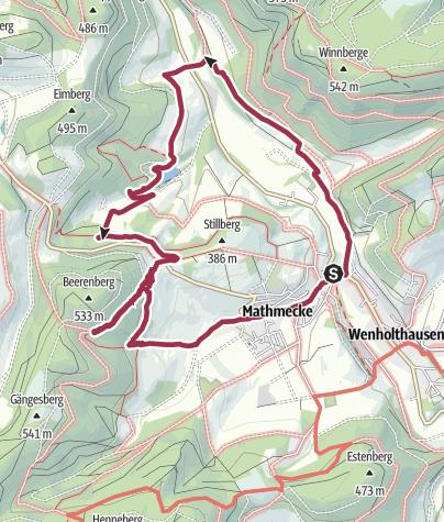 Mappa / Golddorfroute Wenholthausen