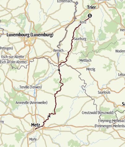Karte / Jakobsweg Trier Metz