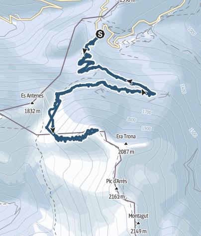 Carte / Pic d'Aubas